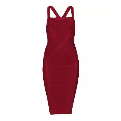 luna cross back dress red